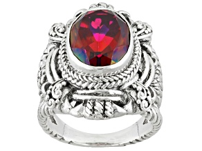 Raspberry Rouge™ Mystic Quartz® Silver Ring 5.00ctw