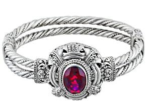 Raspberry Rouge™ Mystic Quartz® Silver Bracelet 5.00ct