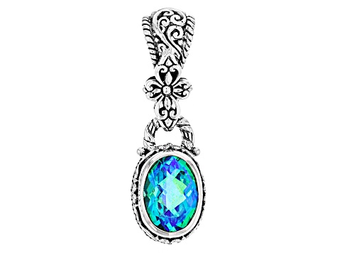 Rainbow paraiba blue quartz triplet silver pendant sra1131 jtv rainbow paraiba blue quartz triplet silver pendant aloadofball Gallery