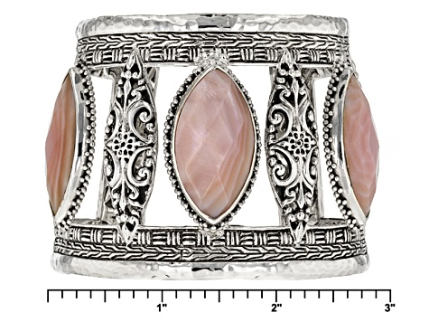 Pink Mother Of Pearl Silver Bracelet