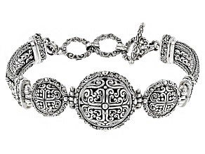 Sterling Silver Filigree Medallion Bracelet