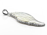 White Mother Of Pearl Wing Pendant