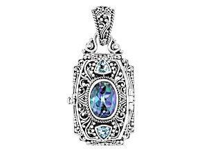 Blue Blueicious™ Quartz Silver Locket 5.90ctw