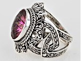 Brilliant Eve™ Mystic Quartz® Silver Ring 5.19ctw