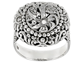 White Diamond Accent Silver Ring .06ct