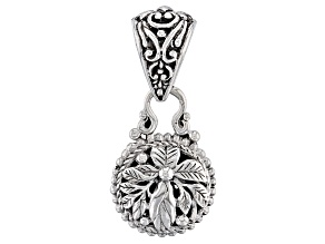 White Diamond Accent Reversible Silver Pendant .06ct
