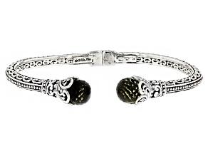 Olive Quartz Silver Bracelet 8.16ctw