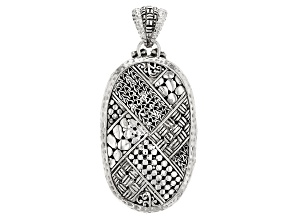 Sterling Silver Woven Look Pendant