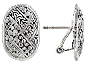 Sterling Silver Woven Look Earrings