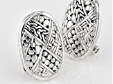 Sterling Silver Woven Look Earrings