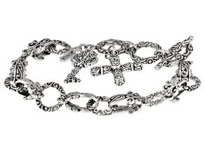 Sterling Silver Key Bracelet
