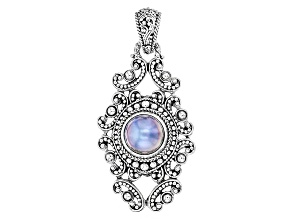 Peacock Grey Cultured Mabe Pearl Sterling Silver Pendant