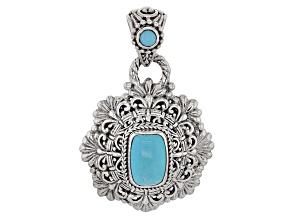 Turquoise Blue Silver Pendant