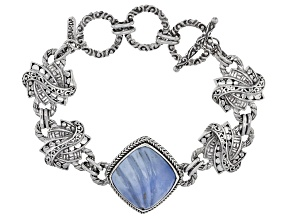 Blue Opal Sterling Silver Bracelet