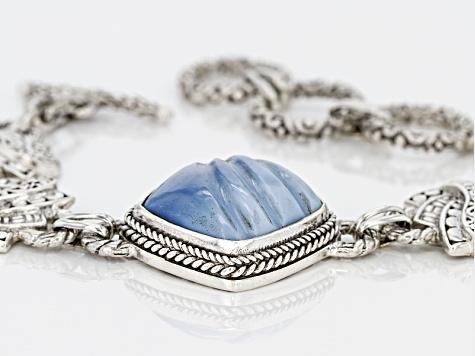 Blue Opal Bracelet Sterling Silver Rnrxrwz8dq