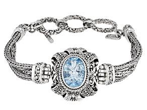 Blue Topaz Silver Bracelet 5.87ct