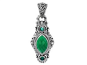 Green Onyx Silver Pendant
