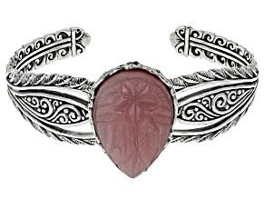 Pink Guava Quartz Silver Bracelet