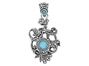 Turquoise Sleeping Beauty Silver Pendant