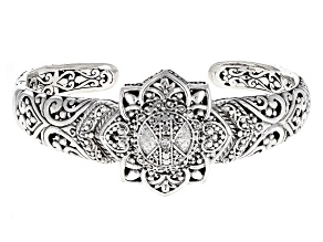 White Diamond Silver Bracelet .06ct