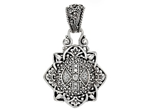 White Diamond Silver Pendant .06ct