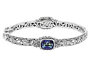 Blue Mystic Quartz® Silver Bracelet 7.90ctw