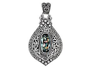 Aloha Green™ Mystic Quartz® Silver Pendant 5.19ctw