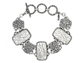White Mother Of Pearl Silver Bracelet