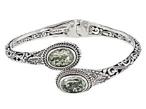 Green Prasiolite Silver Bracelet 9.02ctw