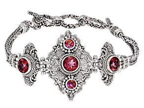 Pink Fast Casual™ Mystic Quartz® Silver Bracelet 5.84ctw