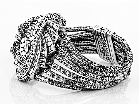 Sterling Silver Trilogy Step Bracelet