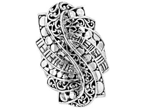 Sterling Silver Trilogy Step Ring