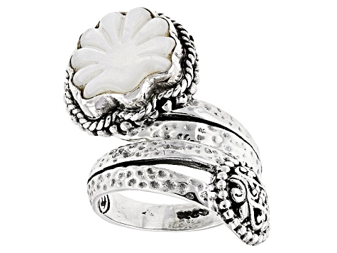 White Mother Of Pearl Sterling Silver Ring