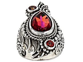 Savage Fire™ Mystic Quartz® silver ring 4.53ctw