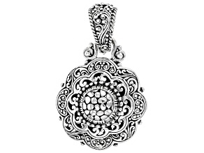 Sterling Silver Scalloped Watermark Pendant
