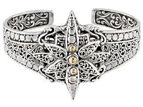 Sterling Silver And 18k Gold Star Bracelet