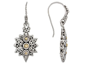 Sterling Silver And 18k Gold Star Earrings