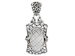 White Mother Of Pearl Silver Pendant