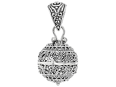 Sterling silver harmony ball pendant sra1768 jtv sterling silver harmony ball pendant aloadofball Image collections