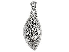 Sterling Silver Floral Filigree Pendant