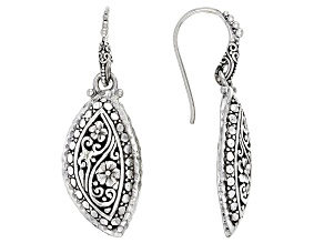 Sterling Silver Floral Filigree Earrings