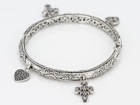 Sterling Silver Charm Bracelet - SRA1777  a1473dc98