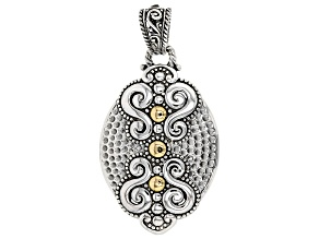 Sterling Silver And 18k Gold Accent Pendant