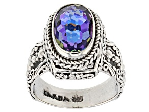 Purple Roman Nights™ Mystic Quartz® Silver Ring 2.41ctw