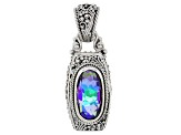 Purple Roman Nights™ Mystic Quartz® Silver Pendant 4.77ctw
