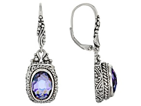 Purple Roman Nights™ Mystic Quartz® Silver Earrings 4.82ctw