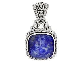 Blue Lapis Lazuli Doublet Silver Pendant