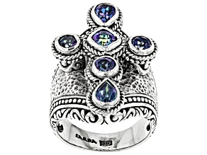 Blue Sheer Luck™ Mystic Topaz® Silver Ring 2.13ctw