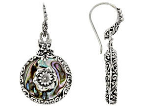 Multicolor Abalone Shell Sterling Silver Earrings