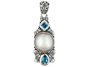 Pearl Mabe Sterling Silver Pendant 2.72ctw
